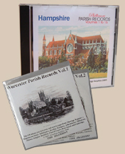 Hampshire and WOrcestershire Parish Records on CD